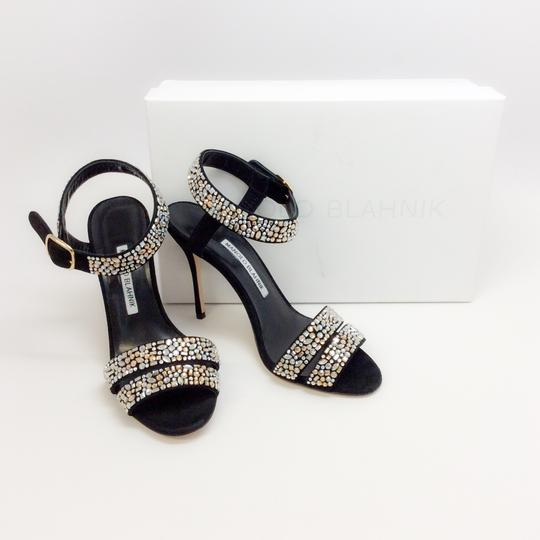 Manolo Blahnik Black With Crystals Sandals Image 8