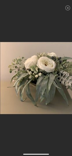 Silver and White Centerpiece Image 1