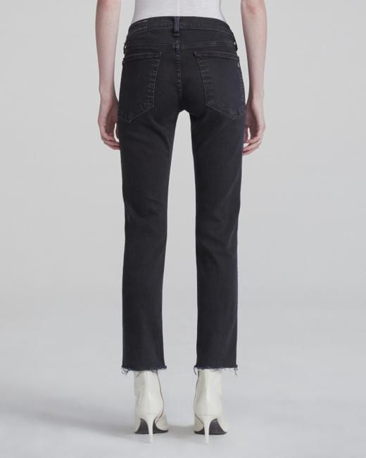 Rag & Bone Side Stripe Dark Rinse Low Rise Boyfriend Cut Jeans-Dark Rinse Image 1
