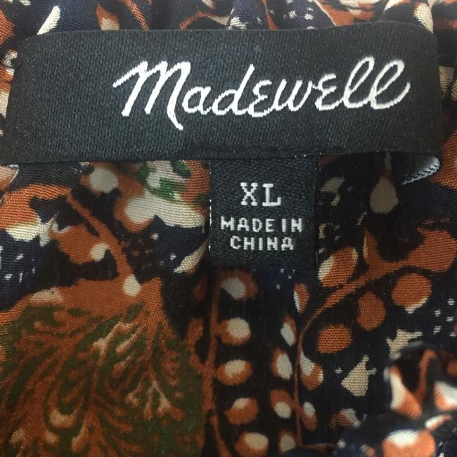 Madewell Silk Xl Cold Shoulder Silk Size Xl Floral Top Brown Image 5