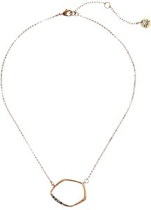 The Sak Gold Metal CZ Pave Open Link Pendant Womens Collar Necklace