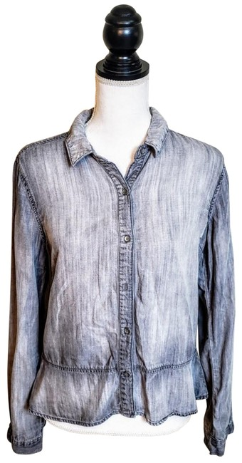Preload https://img-static.tradesy.com/item/26214407/anthropologie-gray-chambray-cloth-and-stone-button-down-top-size-6-s-0-1-650-650.jpg
