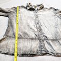 Anthropologie Buttons Longsleeve Collar Button Down Shirt Gray, Chambray Image 6