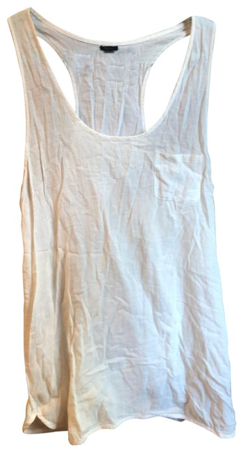 Item - White Cotton Tank Cover-up/Sarong Size 12 (L)