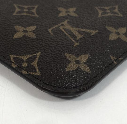 Louis Vuitton Lv Neverfull Neverfull Mm Monogram Pouch Wristlet in Brown Image 7