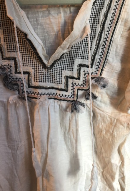 J.Crew Embroidered cover up with tassels Image 3