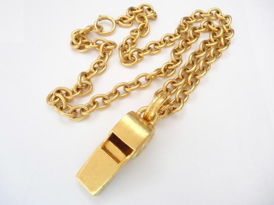 chanel Chanel CC Logos Whistle Pendant Chain Necklace Limited Edition Image 2