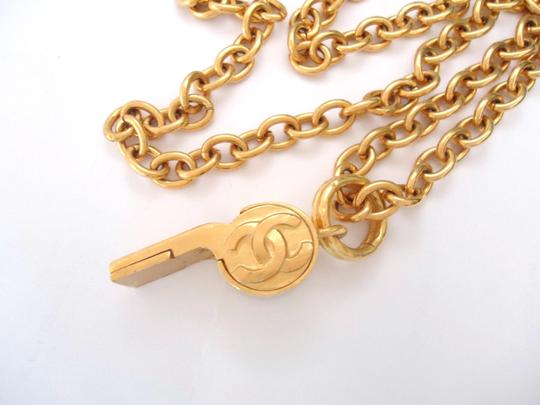 chanel Chanel CC Logos Whistle Pendant Chain Necklace Limited Edition Image 4