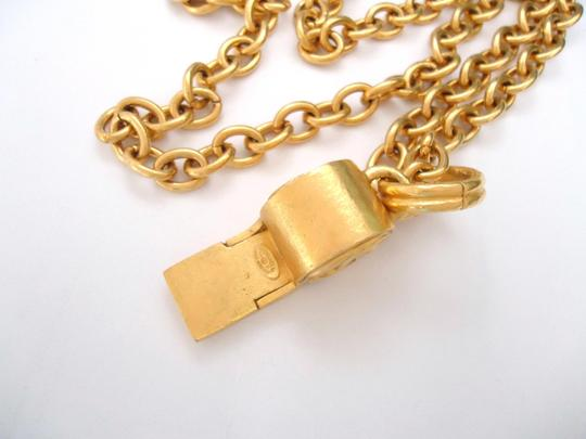 chanel Chanel CC Logos Whistle Pendant Chain Necklace Limited Edition Image 5