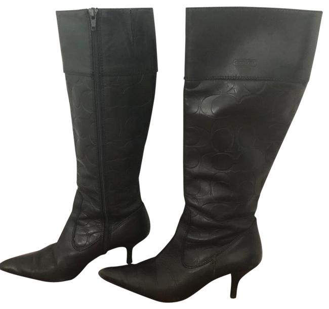 Item - Black Leather Boots/Booties Size US 5.5 Regular (M, B)