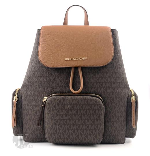 Preload https://img-static.tradesy.com/item/26214470/michael-kors-women-s-large-cargo-abbey-signature-brown-leather-pvc-backpack-0-0-540-540.jpg