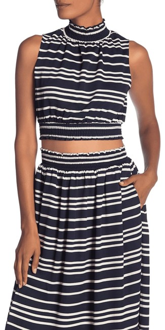 Preload https://img-static.tradesy.com/item/26214515/rachel-roy-blue-you-cropped-navy-white-stripes-m-new-226-blouse-size-8-m-0-1-650-650.jpg