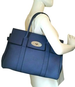 Mulberry Bayswater Leather Large Tote in Dark Blue