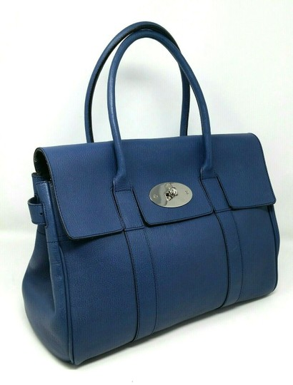 Mulberry Bayswater Leather Large Tote in Dark Blue Image 2