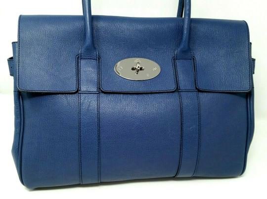 Mulberry Bayswater Leather Large Tote in Dark Blue Image 4