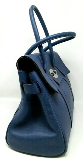 Mulberry Bayswater Leather Large Tote in Dark Blue Image 5