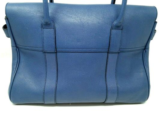 Mulberry Bayswater Leather Large Tote in Dark Blue Image 7