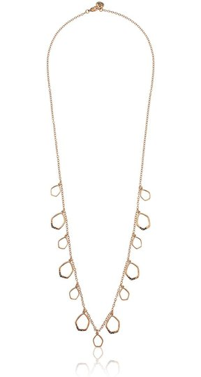 The Sak Gold Metal CZ Pave Shaky Open Links Womens Long Necklace Image 1