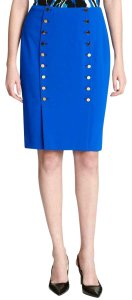 Calvin Klein Pencil Petite Work Skirt Blue