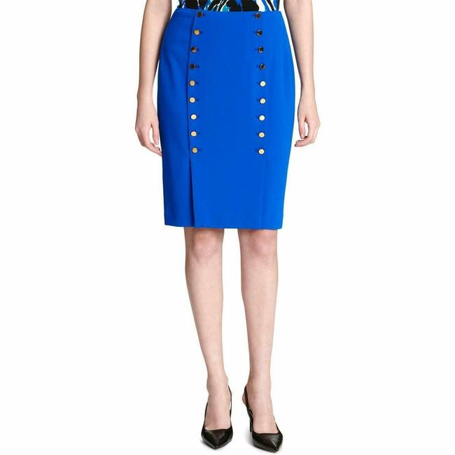 Calvin Klein Pencil Petite Work Skirt Blue Image 2