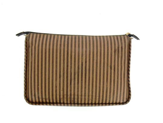 Fendi Vintage Toiletry Pouch 29 Striped Canvas Cosmetics Travel Dopp Bag Image 2