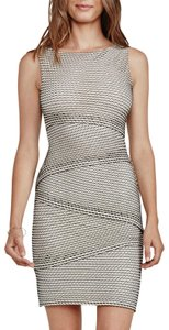 Bailey 44 Gobi Desert Tiered Body-con Perforated Dress
