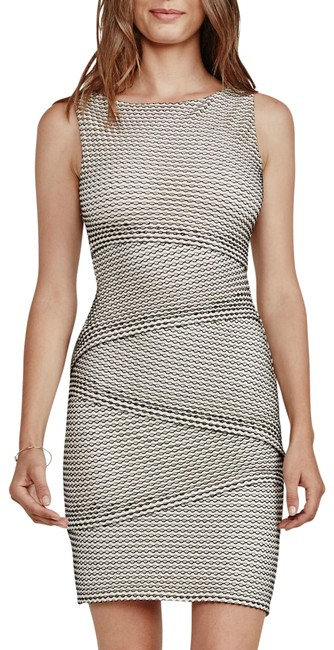 Preload https://img-static.tradesy.com/item/26214630/bailey-44-black-and-cream-jersey-new-gobi-desert-tiered-perforated-body-con-m-short-night-out-dress-0-2-650-650.jpg