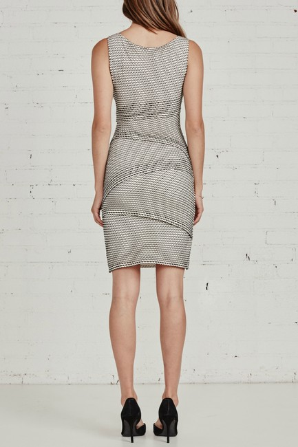 Bailey 44 Gobi Desert Tiered Body-con Perforated Dress Image 1