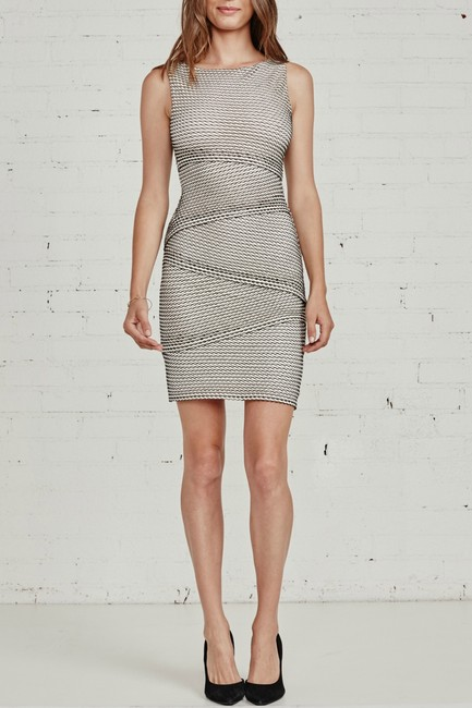 Bailey 44 Gobi Desert Tiered Body-con Perforated Dress Image 2