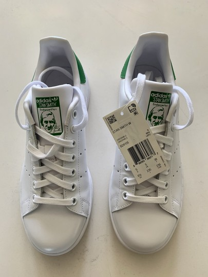 adidas Leather Perforated Rubber White / Green Athletic Image 1