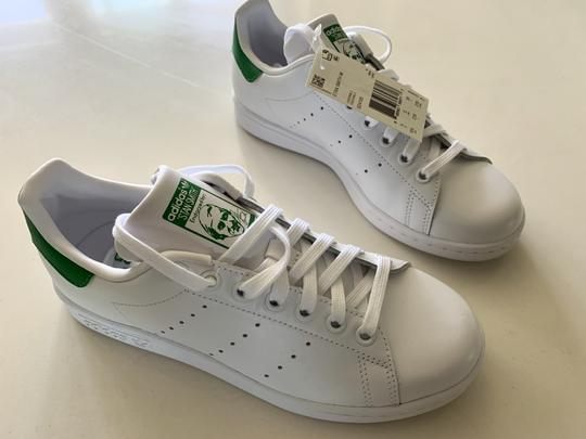 adidas Leather Perforated Rubber White / Green Athletic Image 2