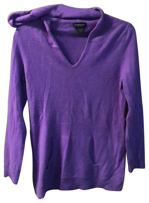 Preload https://img-static.tradesy.com/item/26214686/lord-and-taylor-cashmere-hoodie-purple-sweater-0-1-650-650.jpg