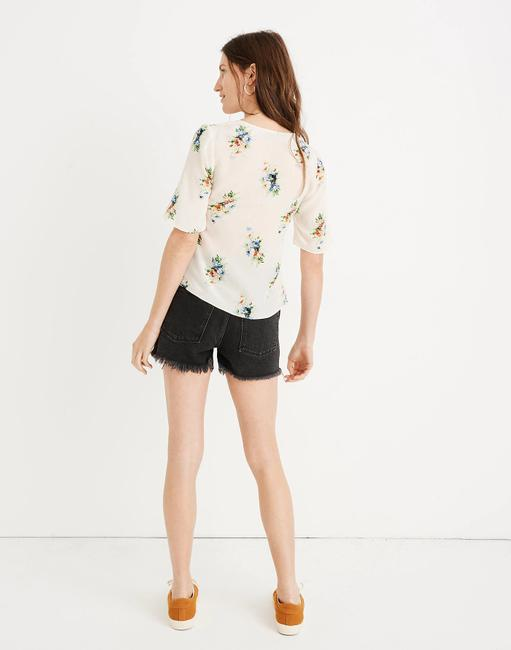 Madewell Silk Floral Silk Floral Floral Print Top Ivory Image 3