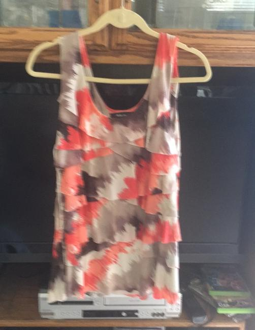 Style &Co, Top orange,brown with sparkle, tan Image 1