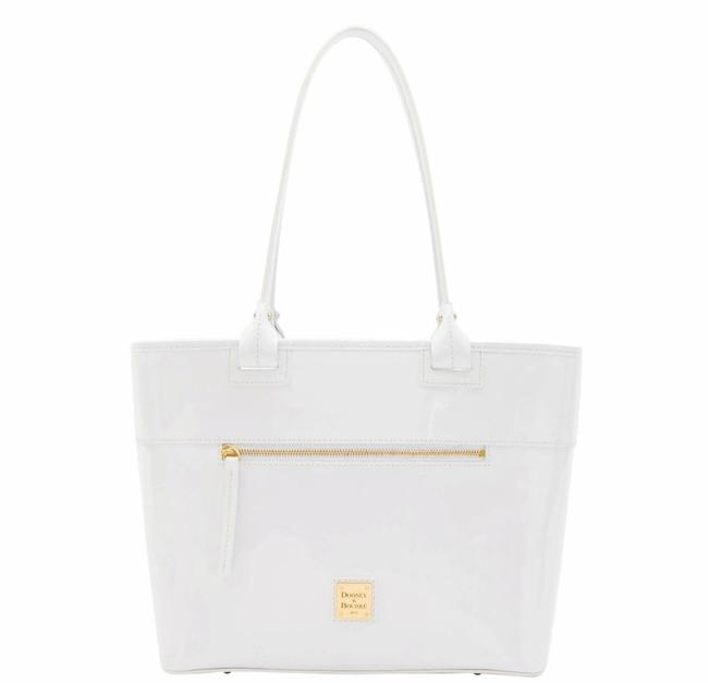 Item - Zip White Patent Leather Tote