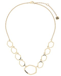 The Sak Gold Metal CZ Pave Open Link Womens Collar Necklace