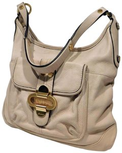 B. Makowsky Glove Leather Gold Hardware Buckle Detailing Shoulder Bag