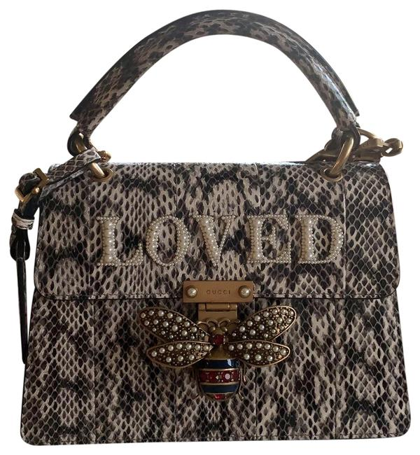 Gucci Linea I Top Handle In Waters Color Natural Snakeskin Leather Baguette Gucci Linea I Top Handle In Waters Color Natural Snakeskin Leather Baguette Image 1