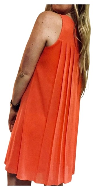 Item - Coral Pleated Back Swing Tank Short Casual Dress Size 6 (S)