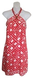Alice & Trixie short dress New Coral Silk on Tradesy