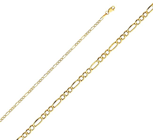"Item - Yellow 14k Solid 2.6mm Figaro 3+1 Chain - 16"" Necklace"