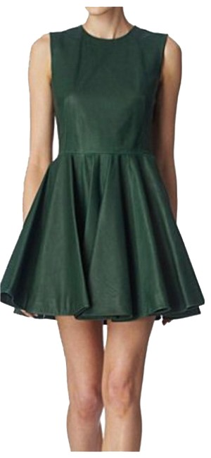 Item - Green Leather Short Night Out Dress Size 0 (XS)