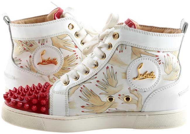 Item - White (Limited) Lou Spike Flat High Top with Nails Sneak Sneakers Size US 5.5 Regular (M, B)