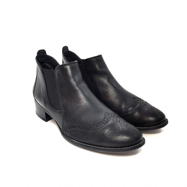 Paul Green Black Leather Wingtip Ankle Boots/Booties Size US 6.5 Regular (M, B) Paul Green Black Leather Wingtip Ankle Boots/Booties Size US 6.5 Regular (M, B) Image 1