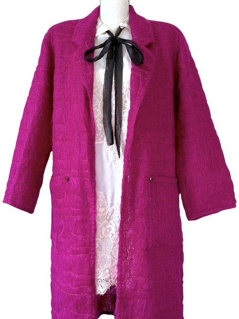 Item - Fuschia Vintage Quilted Mohair & Wool Coat Size 4 (S)