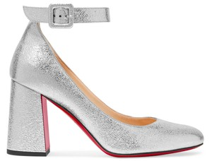 Christian Louboutin Party Holiday Mary Janes Metallic silver Pumps