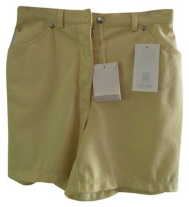 Escada Shorts Yellow