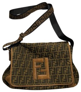 Fendi Tan / Black / Brown Messenger Bag