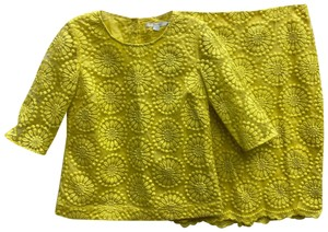 Boden Boden embroidered yellow skirt set 4
