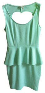 Kirra short dress Mint Green Heart Cutout on Tradesy